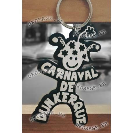 Porte-clé Mr Carnaval Blanc