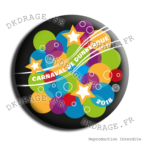 Badge / Magnet Carnaval de Dunkerque 2018 collector 2