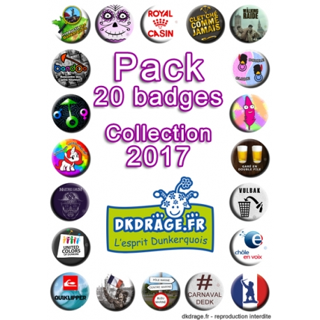 Pack 20 badges - Collection 2017