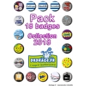 Pack 18 badges - Collection 2018