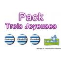 Pack 3 badges des Trois Joyeuses