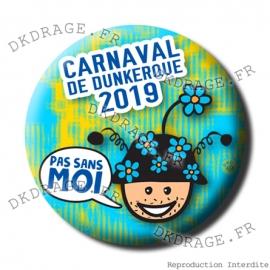 Badge / Magnet Carnaval de Dunkerque 2019 collector bleu vert