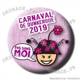 Badge / Magnet Carnaval de Dunkerque 2019 collector rose