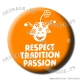 Badge / Magnet Respect Tradition Passion V2 38mm
