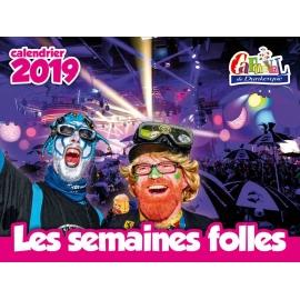 "Calendrier 2019 ""Les semaines folles"""