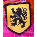 Ecusson brodé Lion des Flandres 8,5 cm sur 6 cm