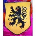 Ecusson géant brodé Lion des Flandres