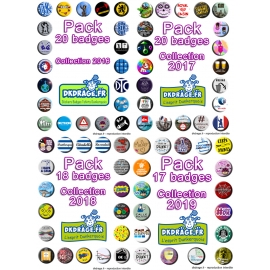 Le Méga Pack 75 badges 38mm !