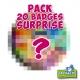 Pack 20 badges SURPRISE