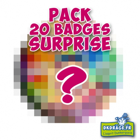 Pack 20 badges SURPRISE