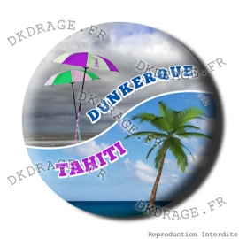 Badge / Magnet Dunkerque VS Tahiti