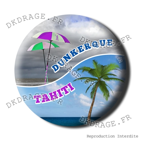 Badge / Magnet Dunkerque VS Tahiti