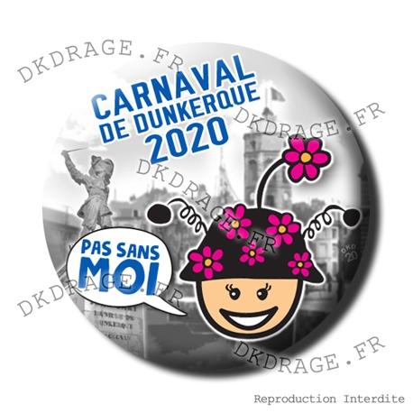Badge / Magnet Carnaval de Dunkerque 2020 collector - Femme