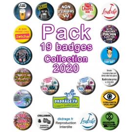 Pack 19 badges - Collection 2020