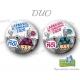 Badge / Magnet Carnaval de Dunkerque 2020 collector - Pas sans moi - Le Duo