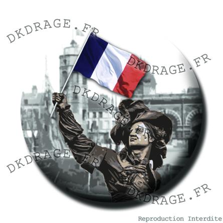 Les badges dkdrage.fr sont fabriqués à Dunkerque !