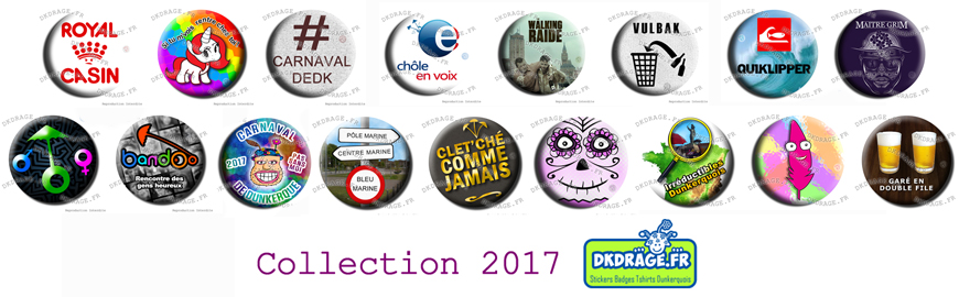 La nouvelle collection de badge de carnaval MADE IN DK par DKDRAGE.FR